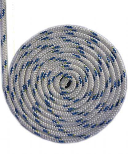 Liros Braid on Braid Rope 6mm 8mm or 10mm Pre-Stretched Blue Fleck (1520)